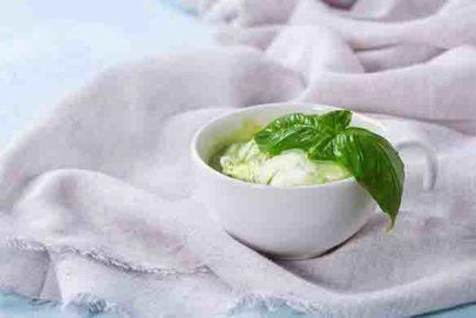 sorbet citron basilic Lait pots d'vaches
